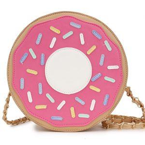 Donut Bag - Donut Bag Harajuku Doughnut Handbag Kawaii Chain Bag
