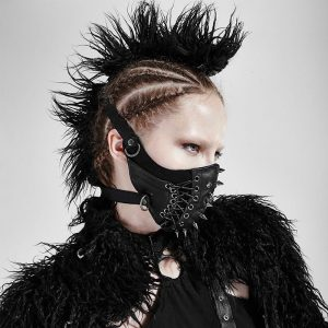 Spiked Mask - Rock Festival Spiked Mask Steampunk Mask Punk Gothic Burning Man Mask