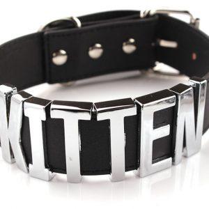 Kitten Choker - Kitten Choker Woman Choker Necklace Black Big Letters Punk Style Collar Kitten Necklace Collar Cats Jewelry