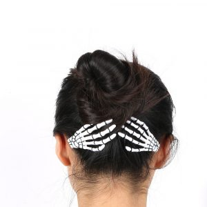 Skeleton Hair Clip - Womens Punk Skeleton Hair Clip Harajuku Goth Skeleton Hands Clip
