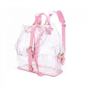 Clear Backpack - Womens Harajuku Clear Backpack Pink Transparent Backpack Kawaii School Bag