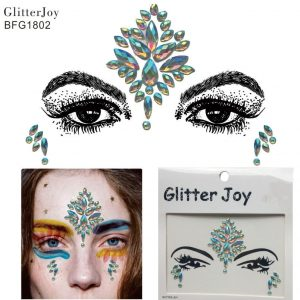 Rave Face Jewels - Festival Rhinestone Face Stickers Rave Face Jewels Face Gems