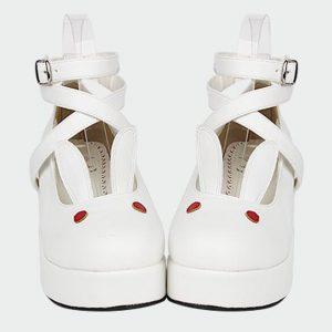 Bunny Shoes - Womens Cute Kawaii Bunny Shoes Lolita Harajuku Platform Rabbit Heels