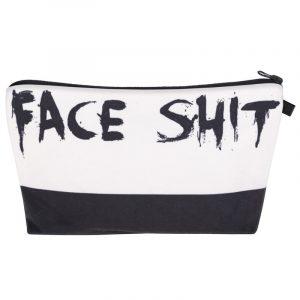 Face Shit Makeup Bag - Womens Goth Punk Face Shit Makeup Bag Harajuku Cosmetic Bag Funny Makeup Pouch