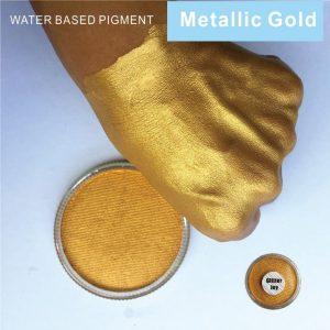 Golden Face Paint - Gold Face Paint Festival Face Makeup Paint Metallic Gold Body Paint Pigment