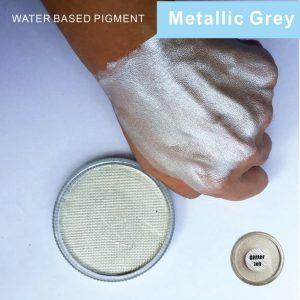 Silver Facepaint - Silver Face Paint Festival Face Makeup Paint Metallic Silver Body Paint Pigment