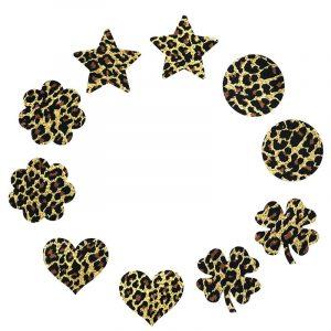 Leopard Pasties - Womens Festival Leopard Pasties Leopard Print Disposable Nipple Covers Breast Stickers Nipple Petals