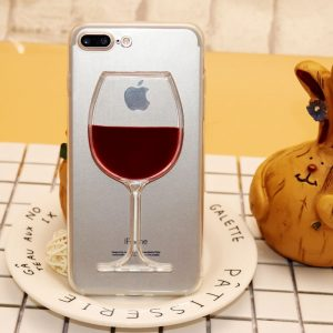 Wine Glass Phone Case - Red Wine Glass Phone Case Transparent Phone Case Cover