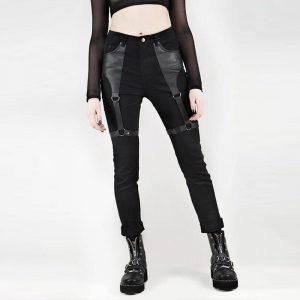 Goth Pants - Womens Goth Pants Punk Rock Harajuku Harness Pants Gothic Pants