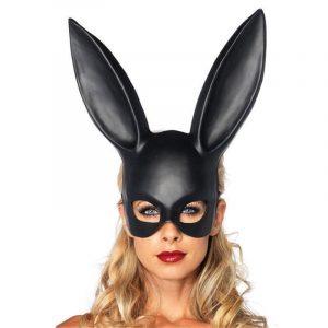 Bunny Mask - Womens Bunny Mask Fetish Masquerade Mask Cute Bunny Mask Long Rabbit Ears Half Face Mask