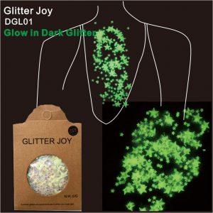 Glow Glitter - Festival Glow In The Dark Glitter Rave Star Glitter