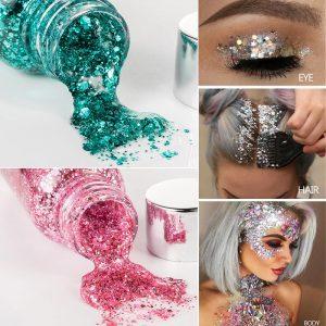 Face Glitter Gel - Chunky Body Glitter Gel Face Glitter Gel Sequin Makeup